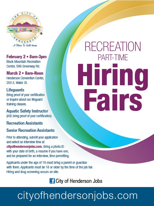 City Of Henderson Nv >> City Of Henderson Nv Spring 2019 Hiring Fair The Dulcie